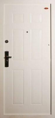 Biele Hi Sec bezpečnostné dvere do bytového domu