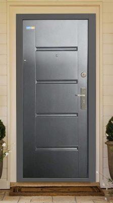 Bezpečnostné dvere antracit TerraSec So vzorom Luxury Line,s hodvábnym leskom