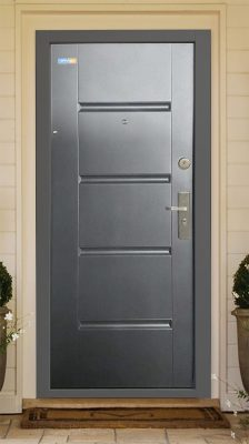 Bezpečnostné dvere antracit TerraSec so vzorom Luxury Line, s hodvábnym leskom