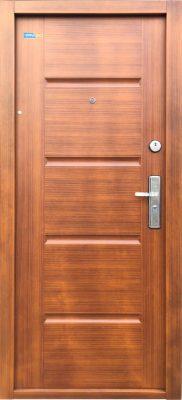 Bezpečnostné dvere zlatý dub TerraSec So vzorom Luxury Line,s hodvábnym leskom