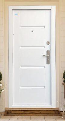 Bezpečnostné dvere biele TerraSec So vzorom Luxury Line,s hodvábnym leskom